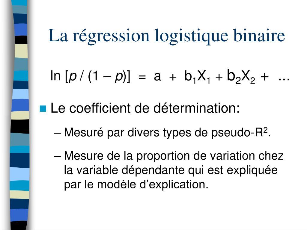 La régression logistique binaire