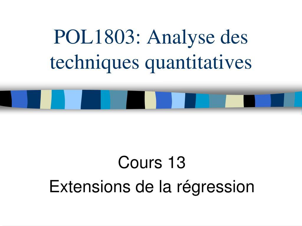 POL1803: Analyse des