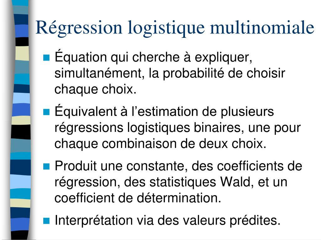 Régression logistique multinomiale