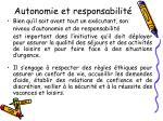 autonomie et responsabilit