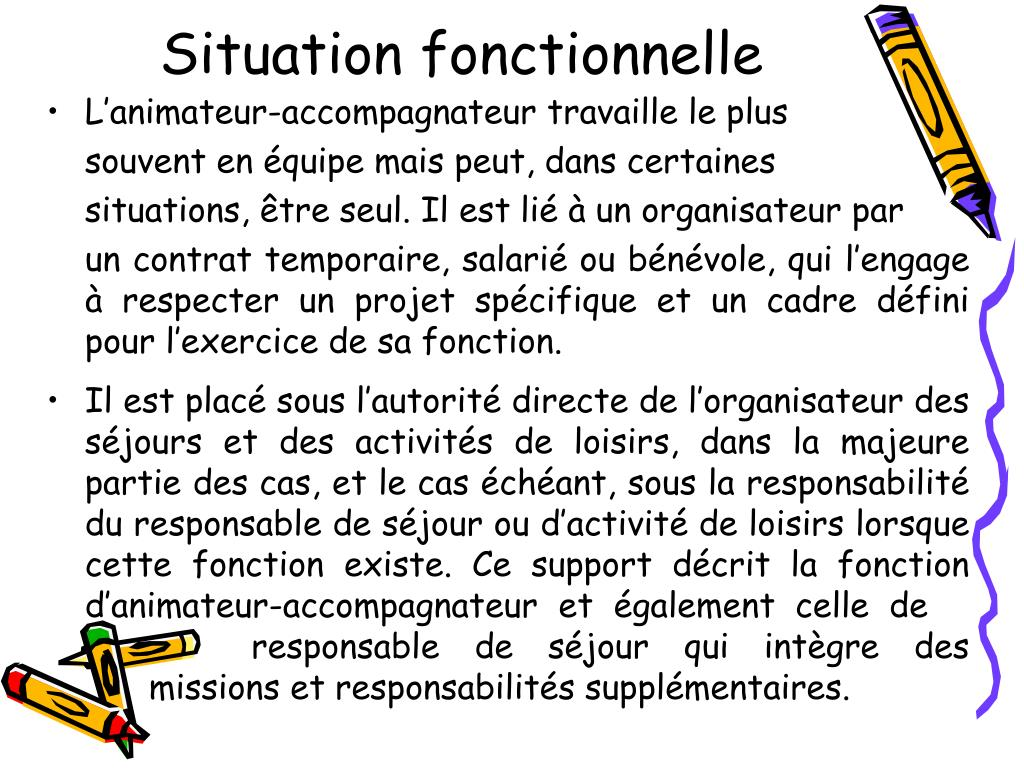 Situation fonctionnelle