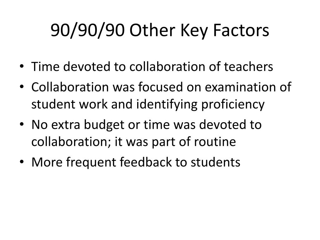 90/90/90 Other Key Factors
