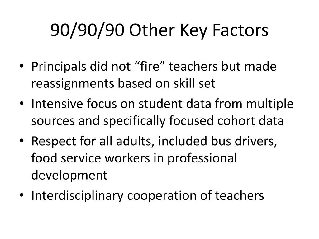 90/90/90 Other Key Factors