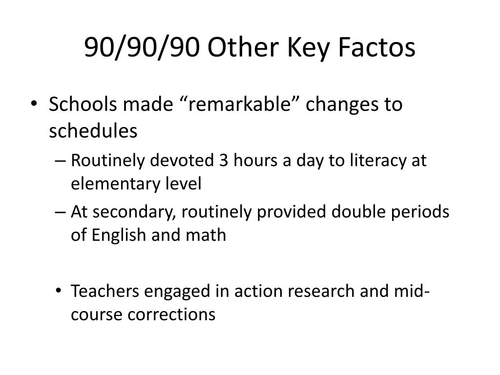 90/90/90 Other Key Factos