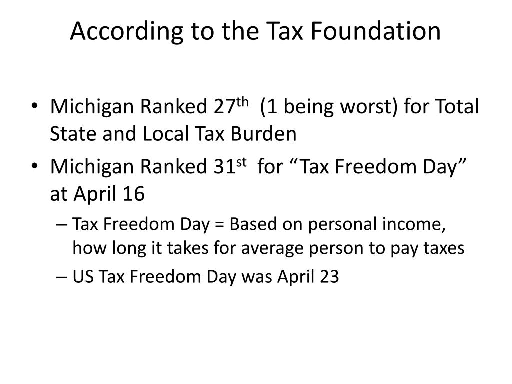 According to the Tax Foundation