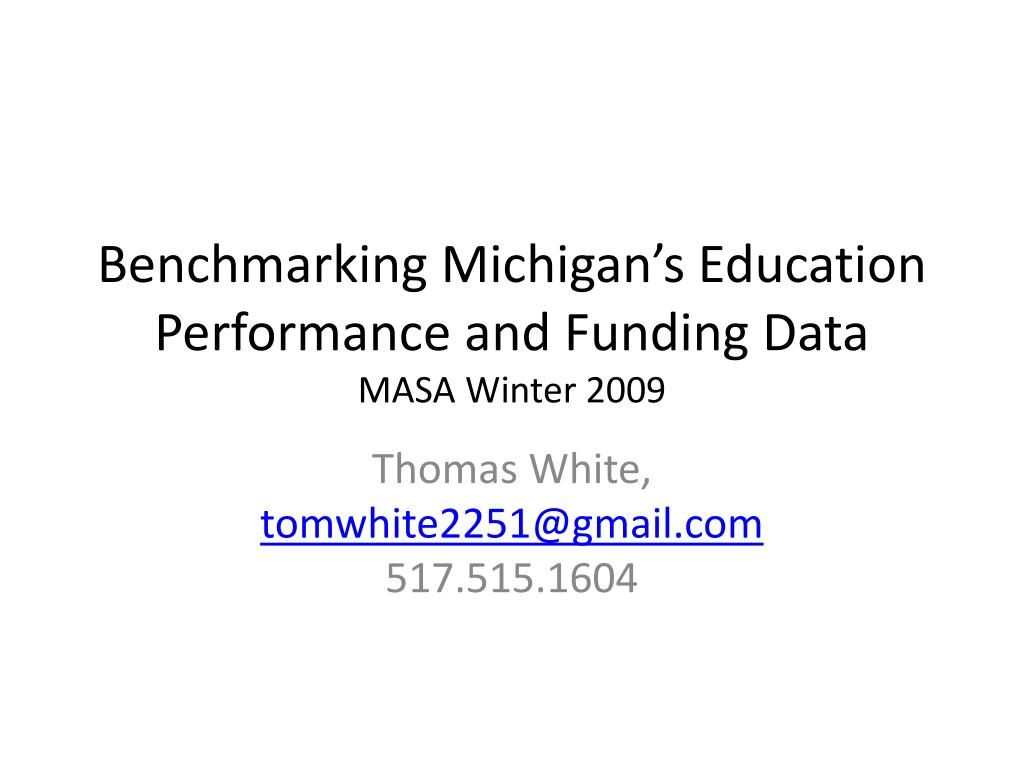 Benchmarking Michigan's Education Performance and Funding Data