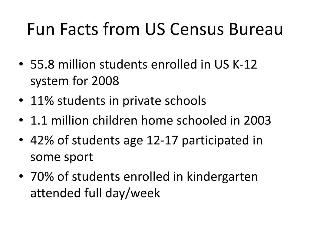 Fun Facts from US Census Bureau