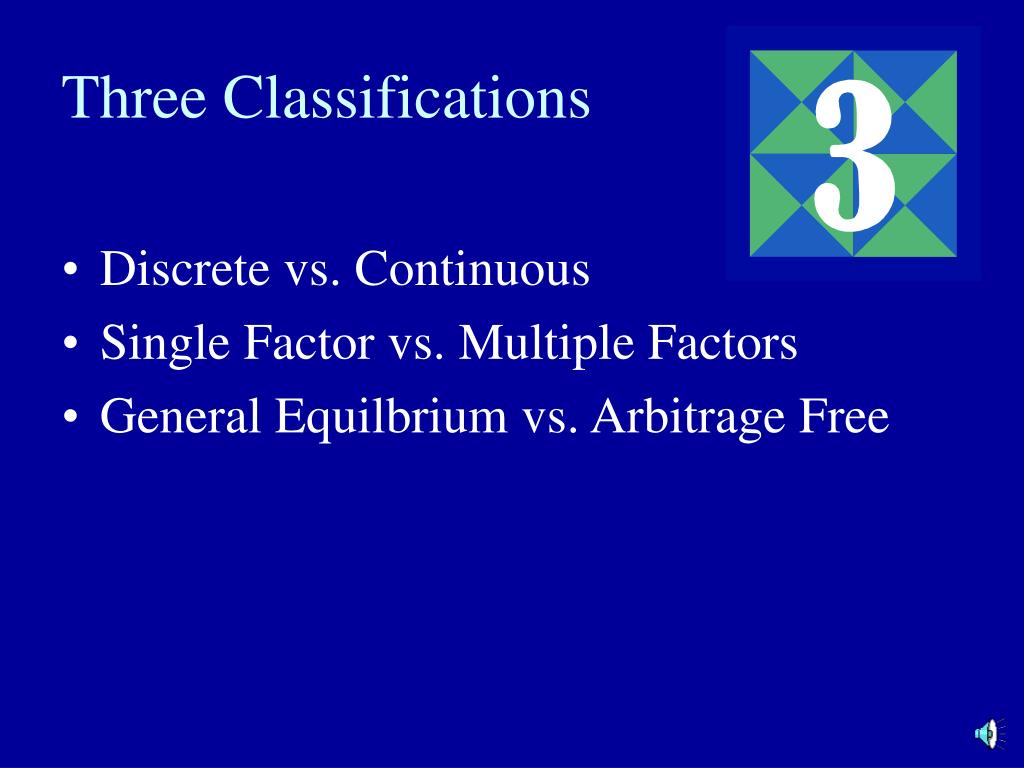 Three Classifications