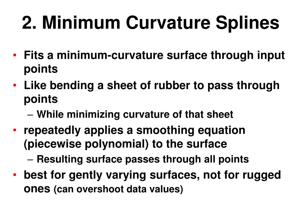 2. Minimum Curvature Splines