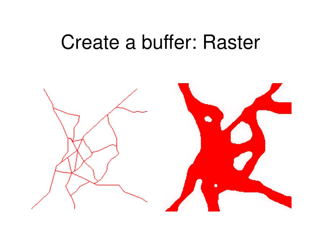 Create a buffer: Raster
