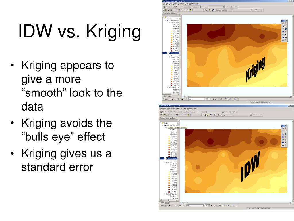 IDW vs. Kriging