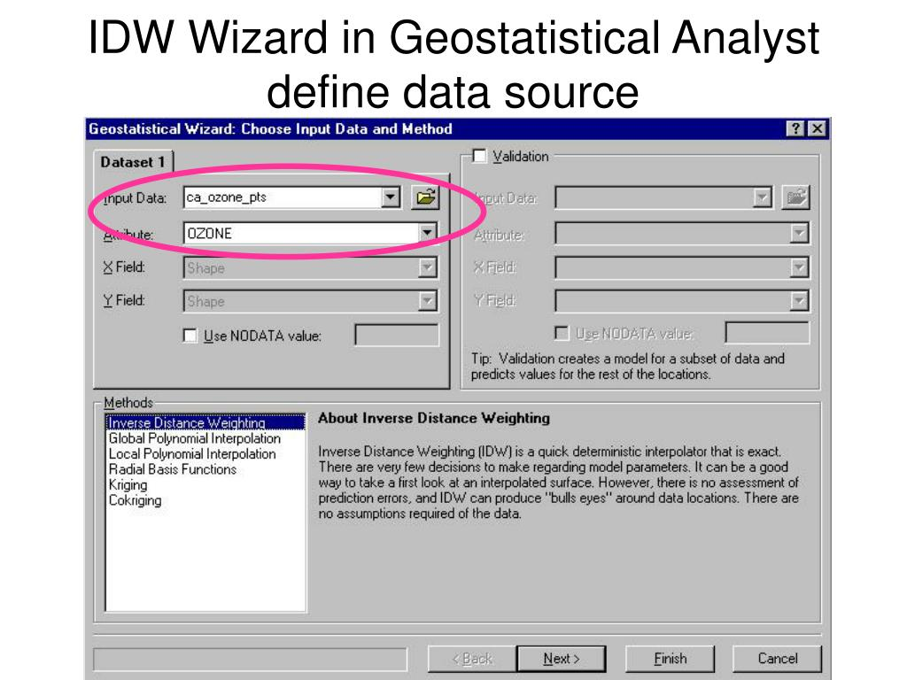IDW Wizard in Geostatistical Analyst