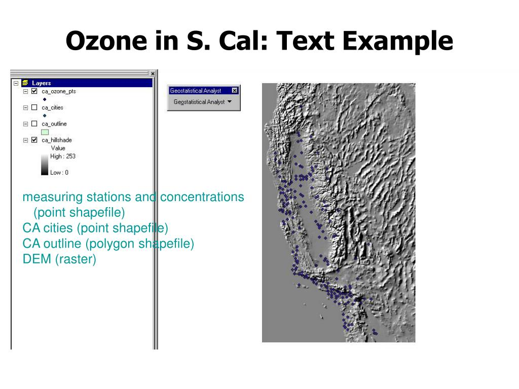 Ozone in S. Cal: Text Example