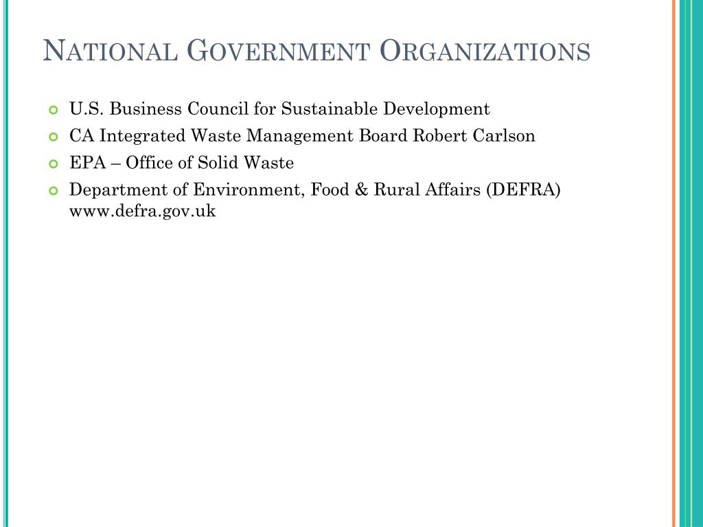 National Government Organizations