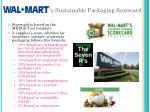 s sustainable packaging scorecard