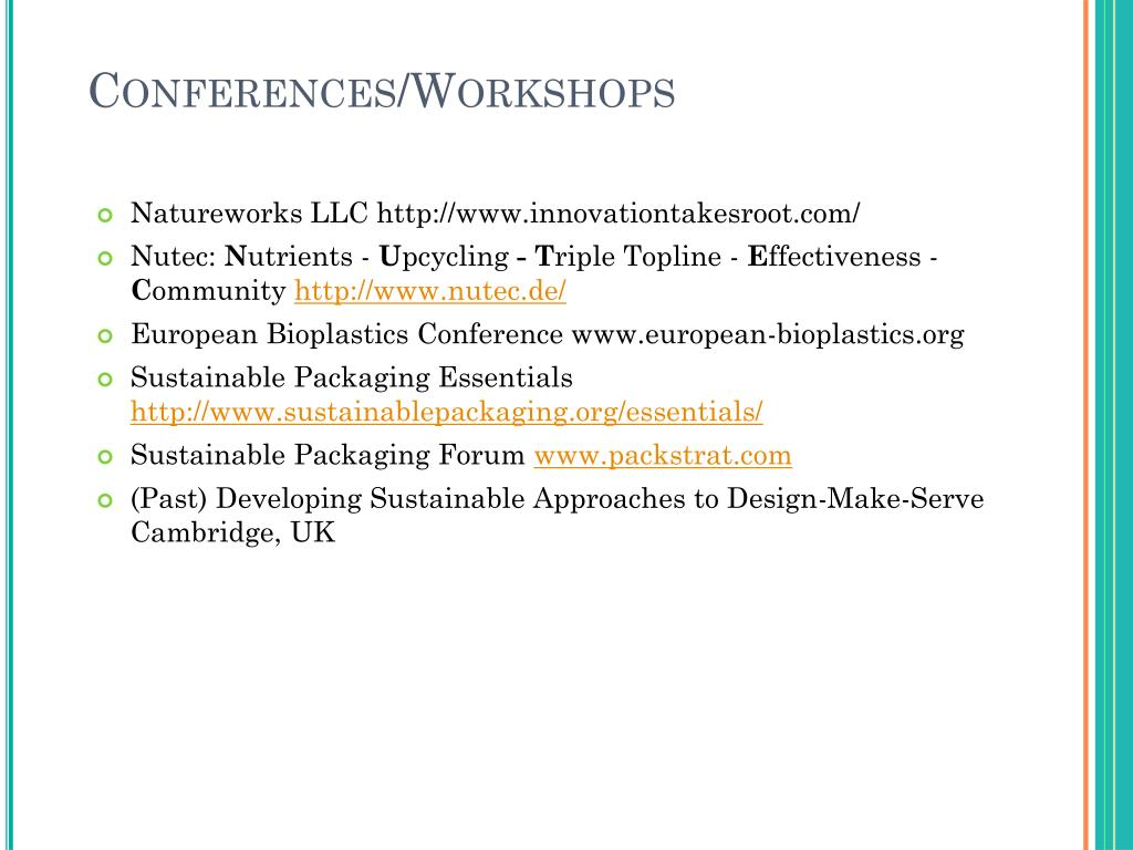 Conferences/Workshops