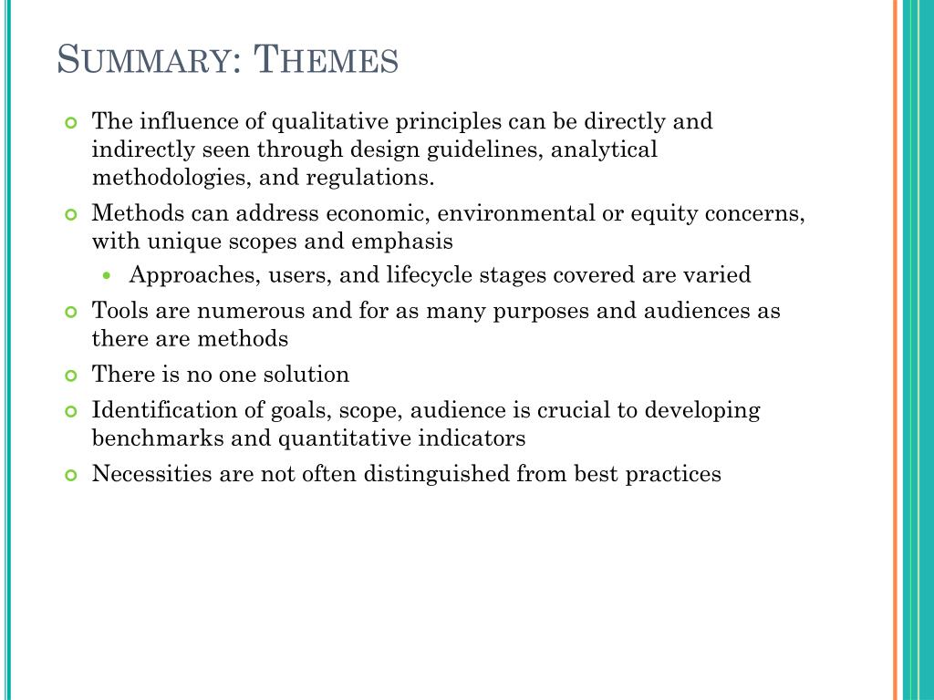 Summary: Themes