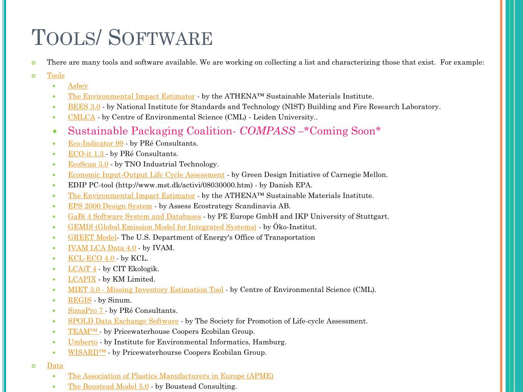 Tools/ Software