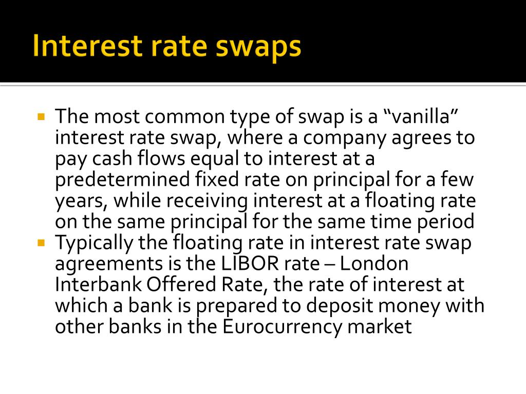 PPT - Swaps and Interest Rate Derivatives PowerPoint ...