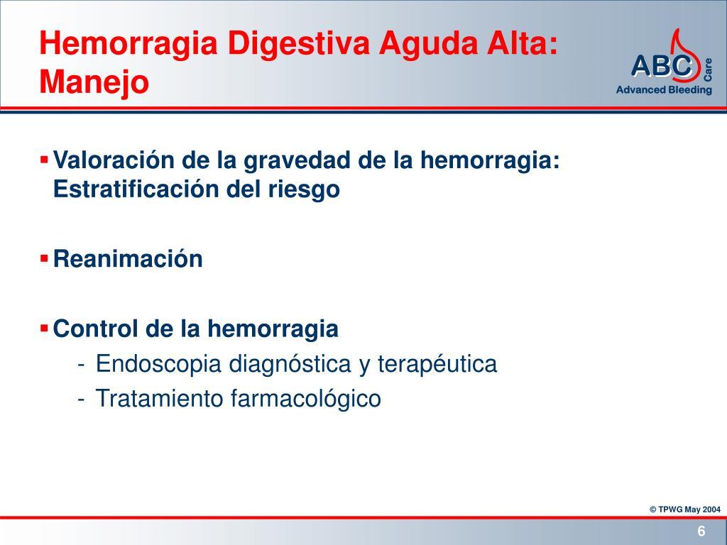 Hemorragia Digestiva Aguda Alta: