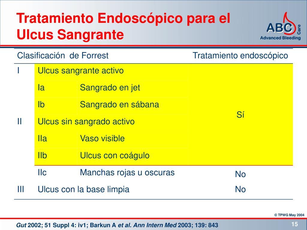 Tratamiento Endoscópico para el Ulcus Sangrante