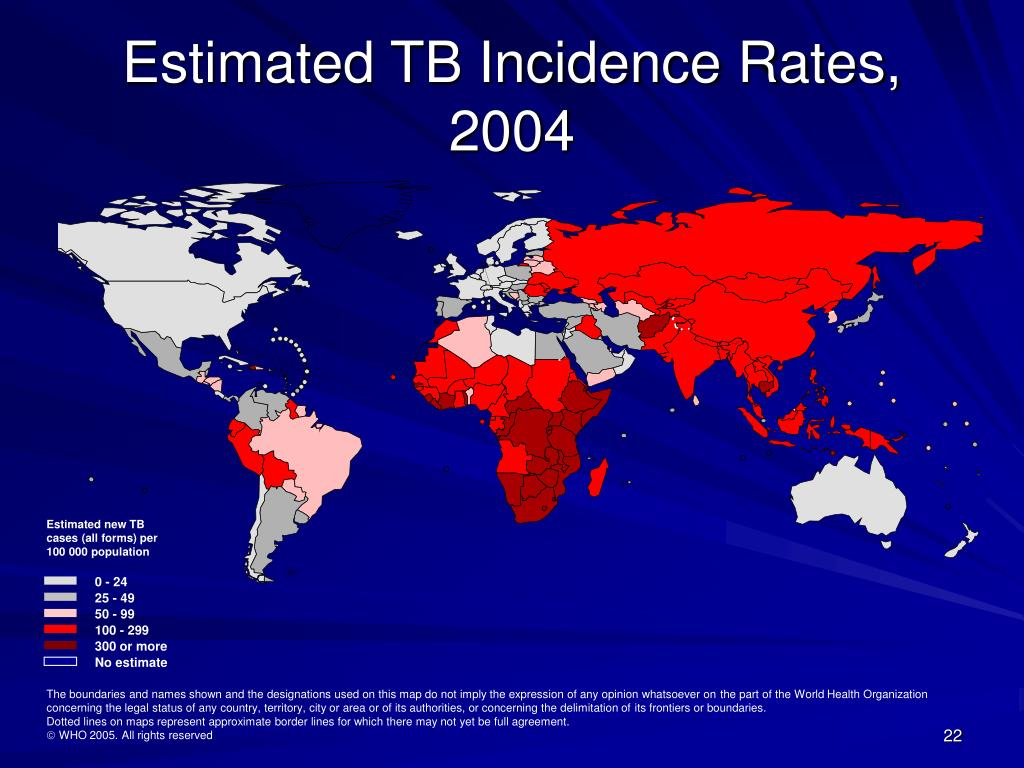 Estimated new TB cases (all forms) per 100 000 population