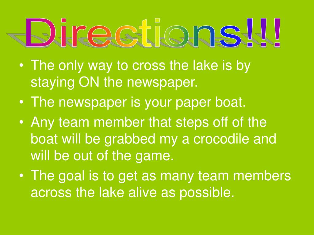 Directions!!!