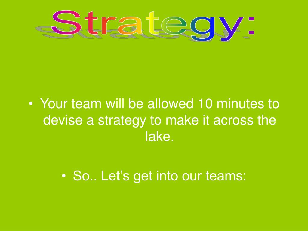 Strategy: