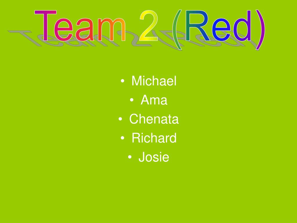 Team 2 (Red)