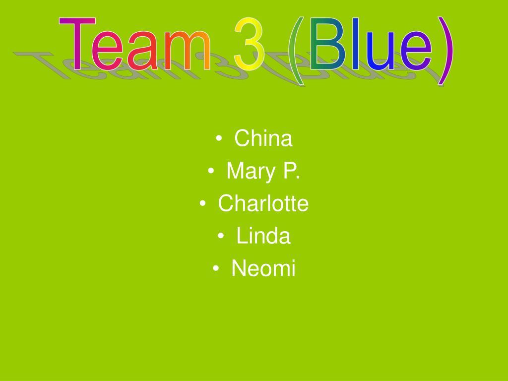 Team 3 (Blue)
