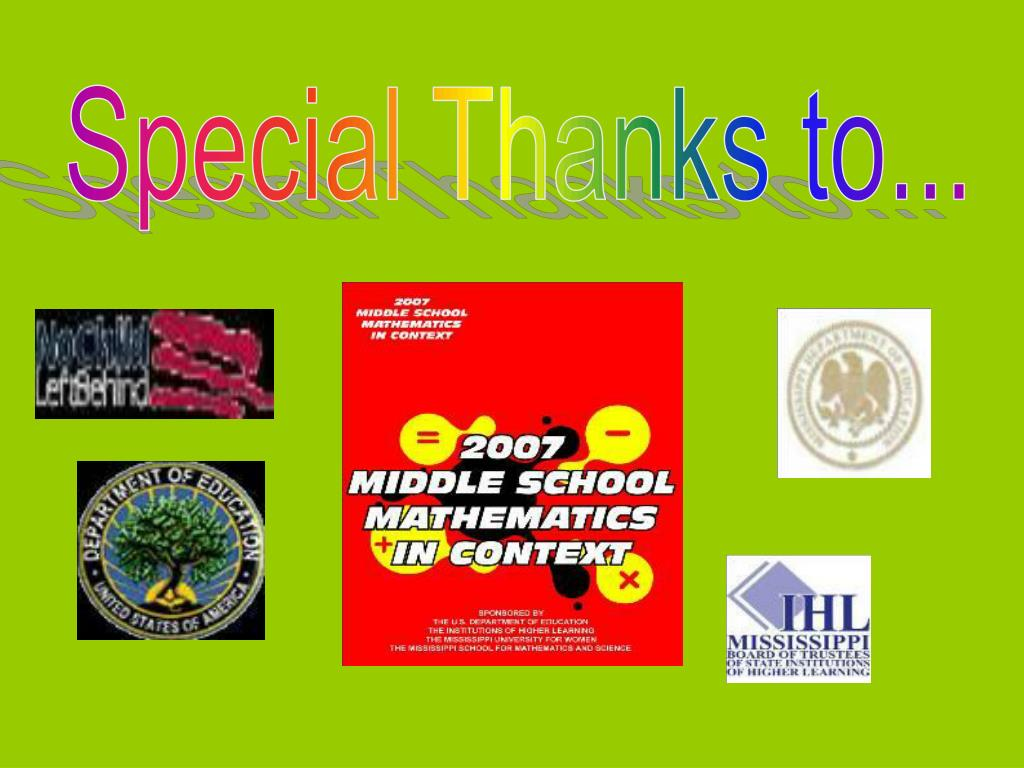 Special Thanks to...