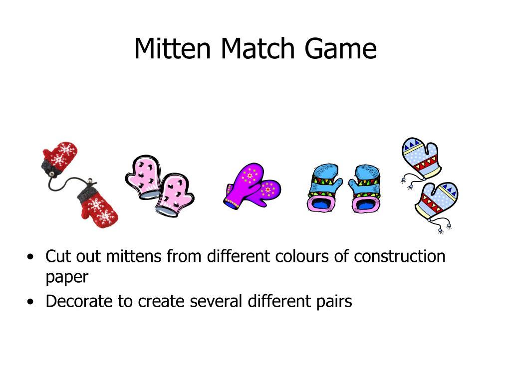 Mitten Match Game