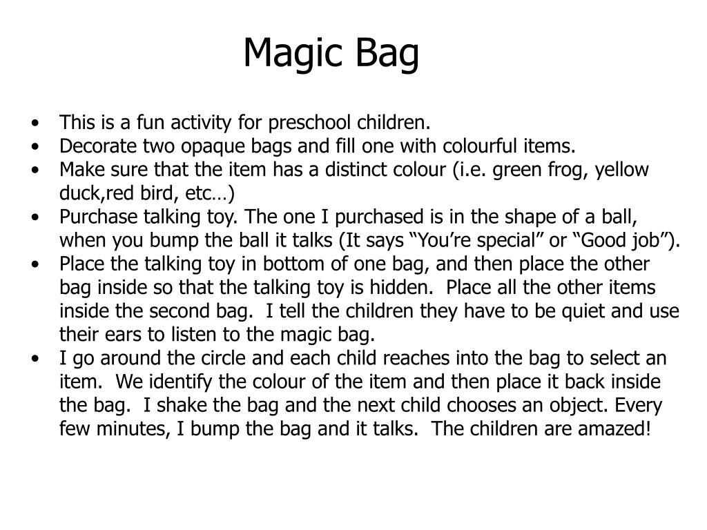 Magic Bag