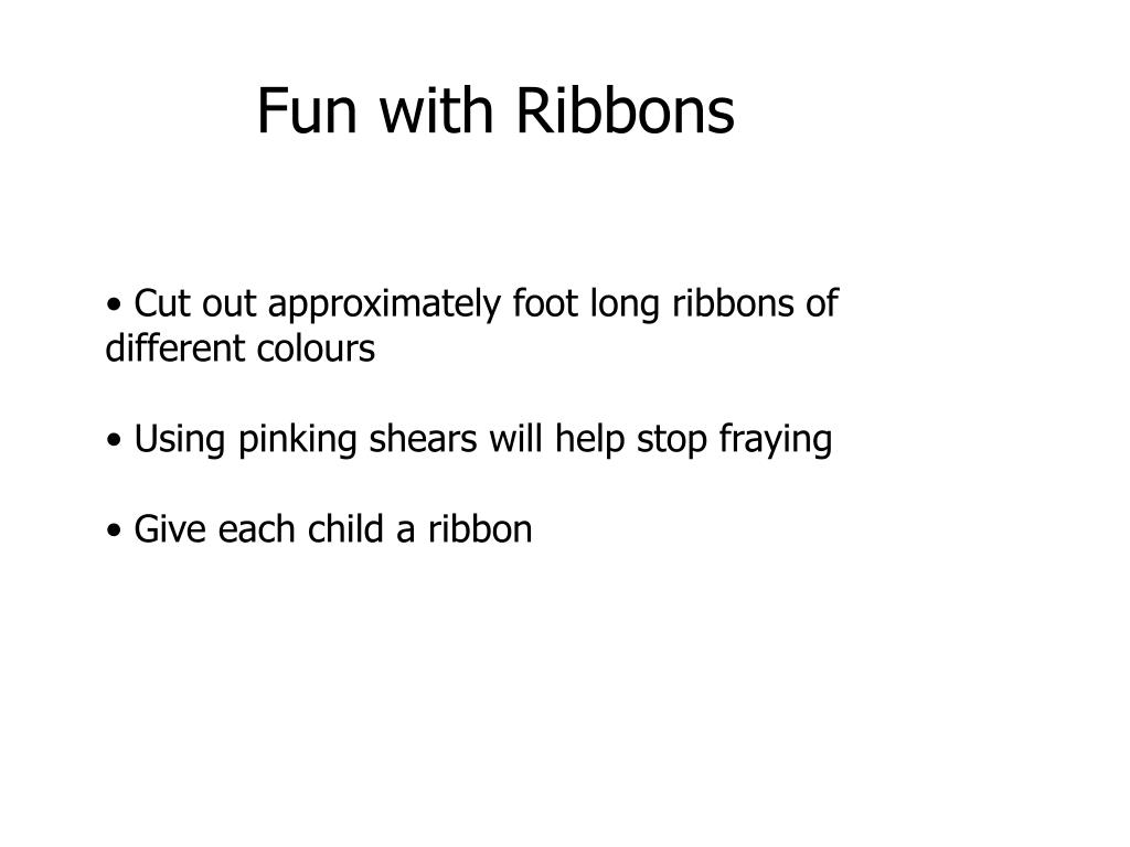 Fun with Ribbons