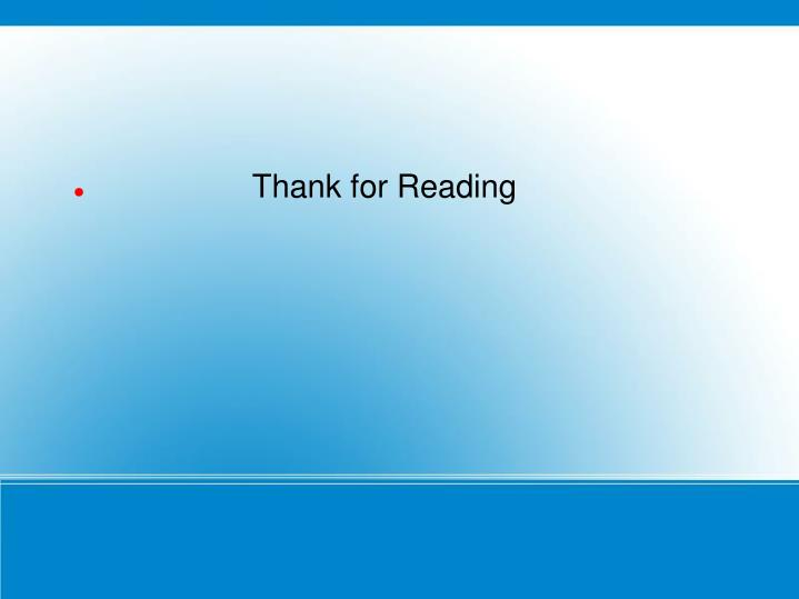 Thank for Reading