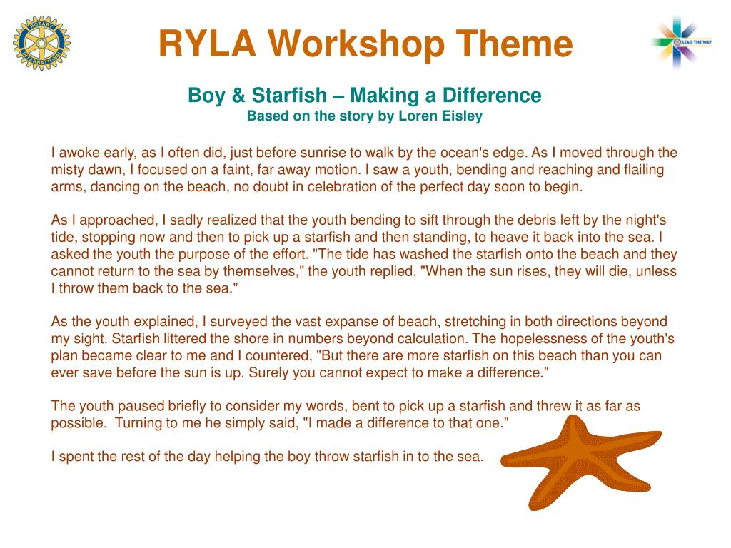 RYLA Workshop Theme