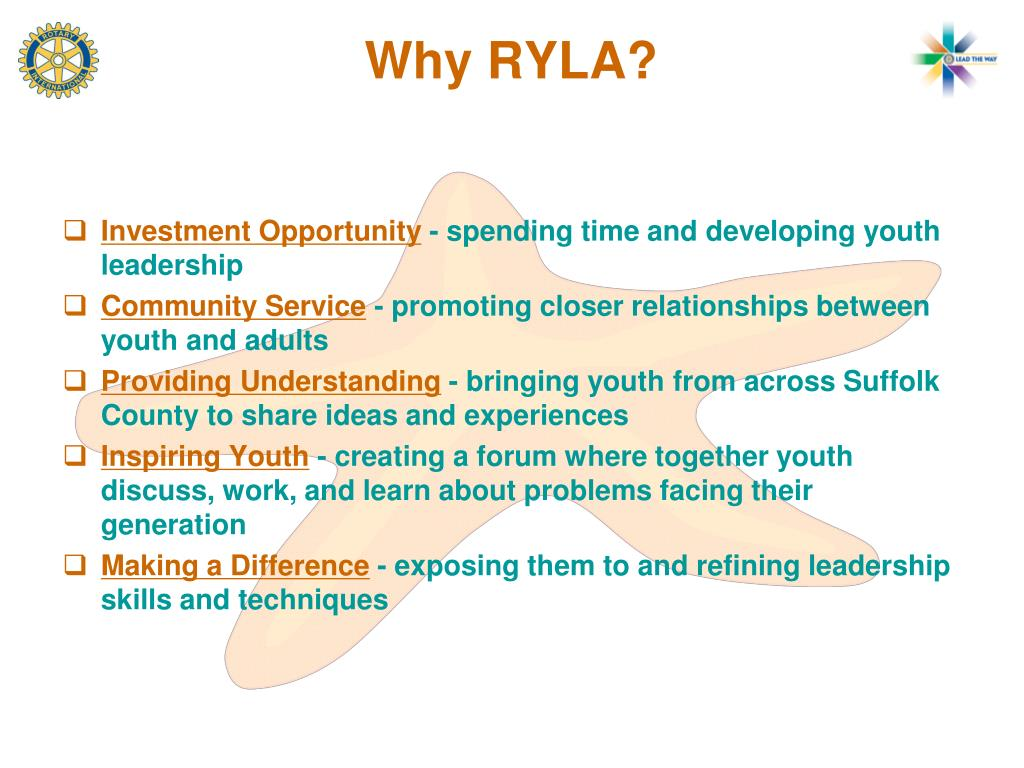 Why RYLA?
