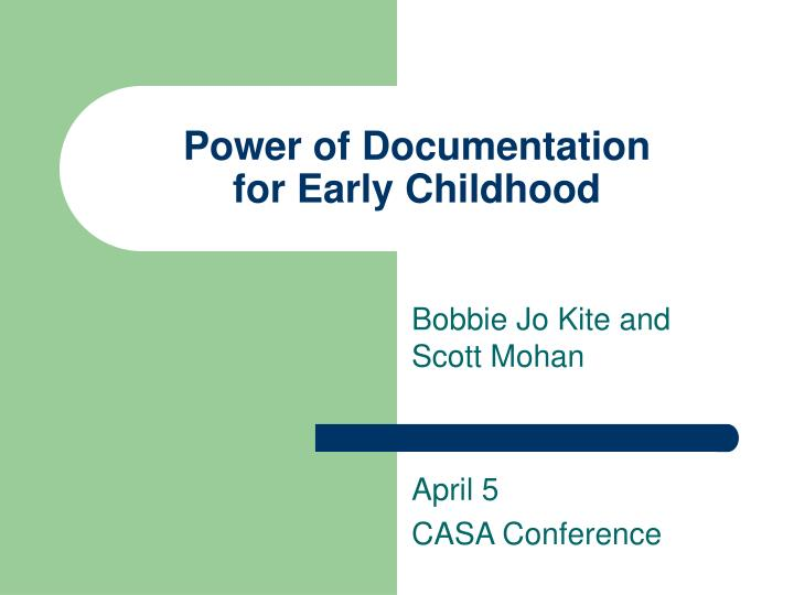 Early Childhood Education scientific document services