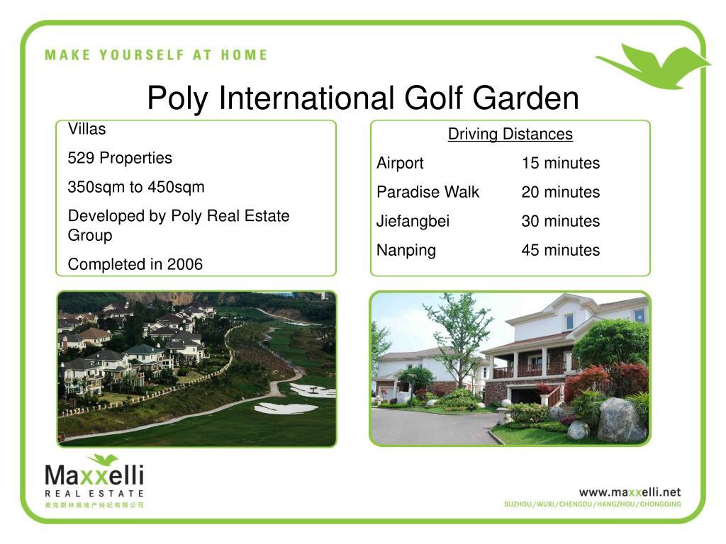 Poly International Golf Garden