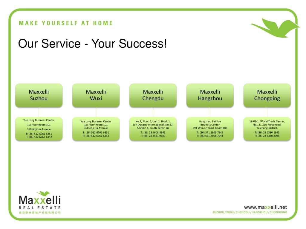 Our Service - Your Success!