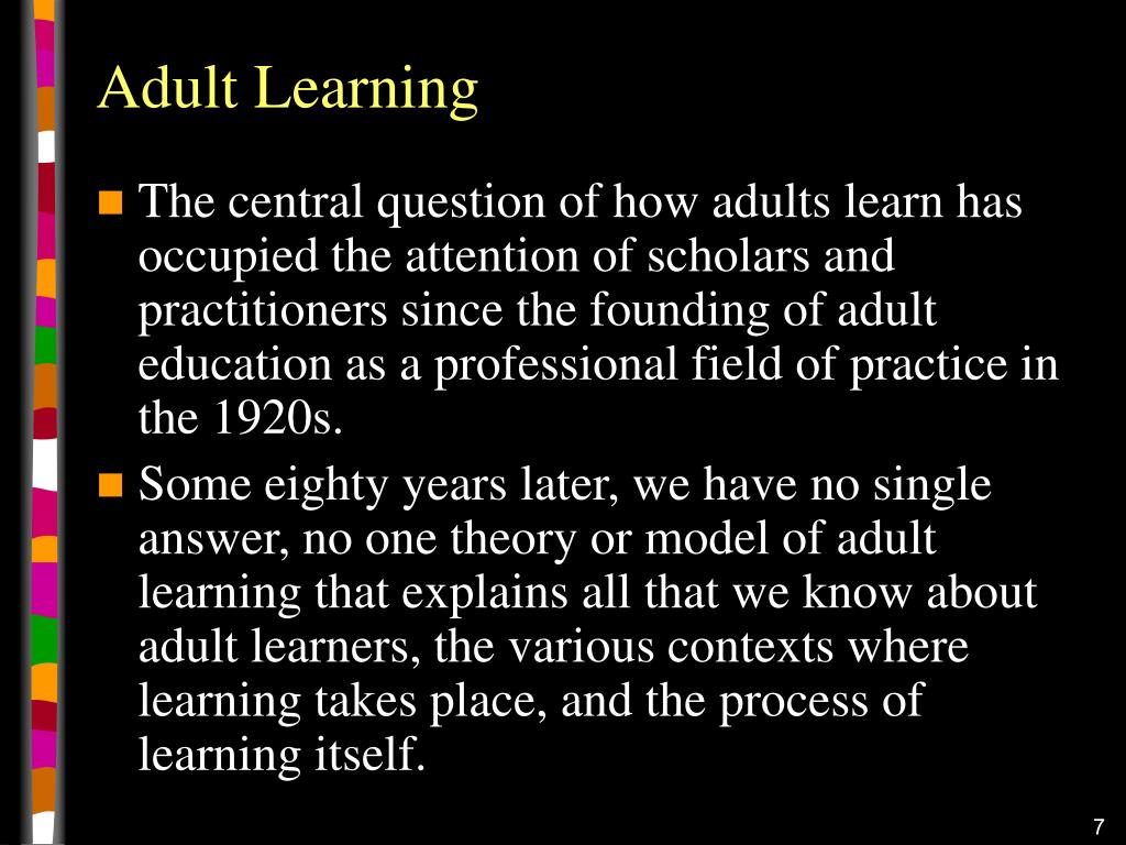 Adult Learning