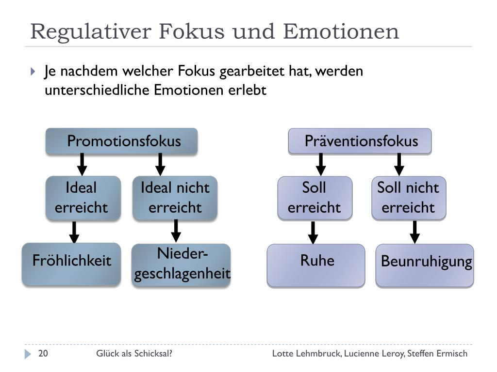 Regulativer Fokus und Emotionen