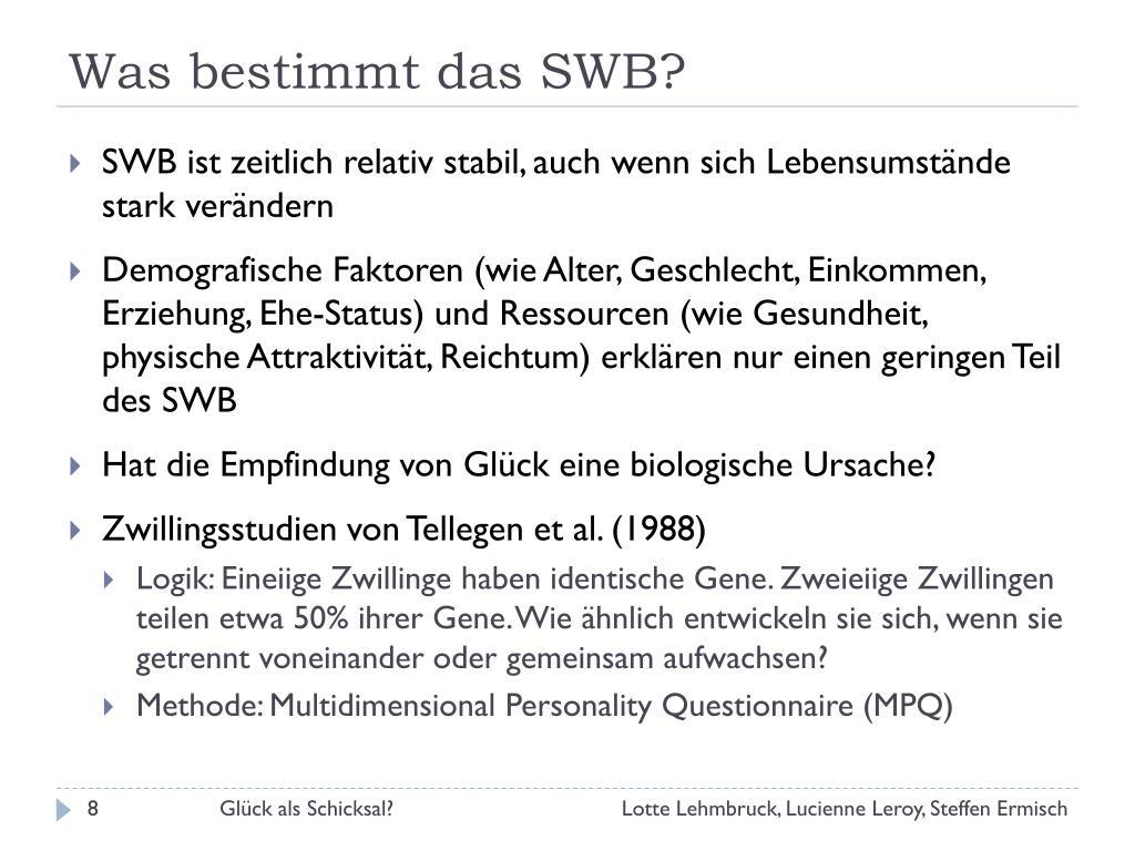 Was bestimmt das SWB?