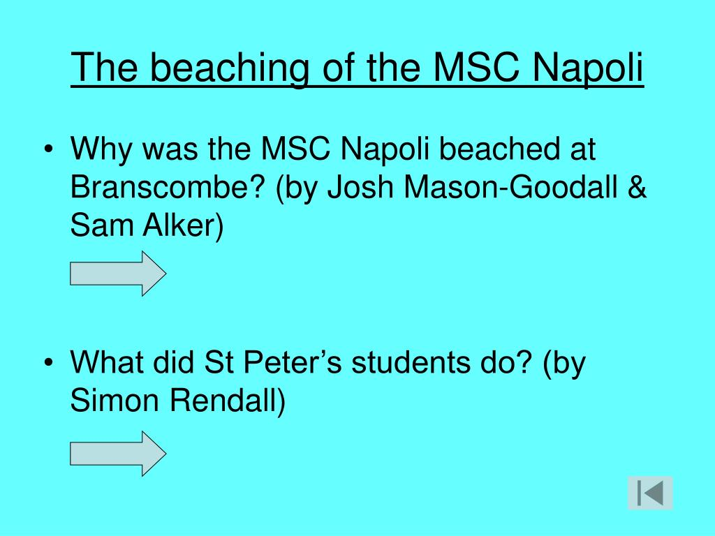 The beaching of the MSC Napoli