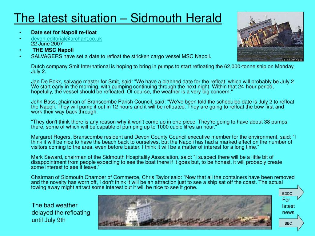 The latest situation – Sidmouth Herald