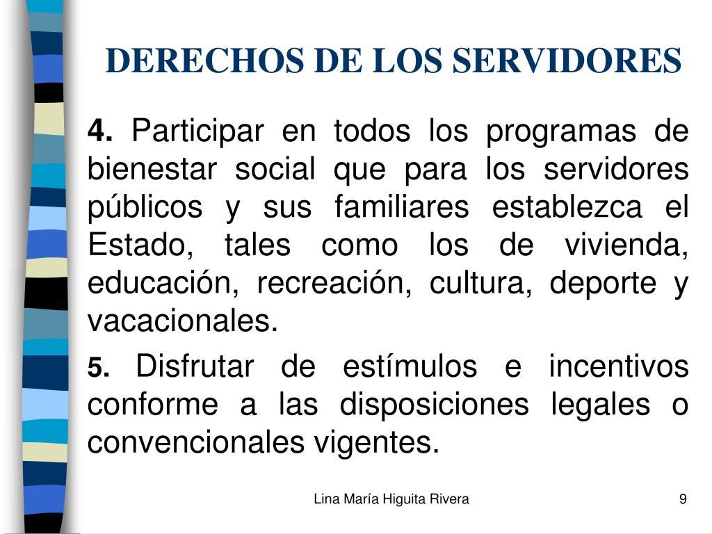 DERECHOS DE LOS SERVIDORES