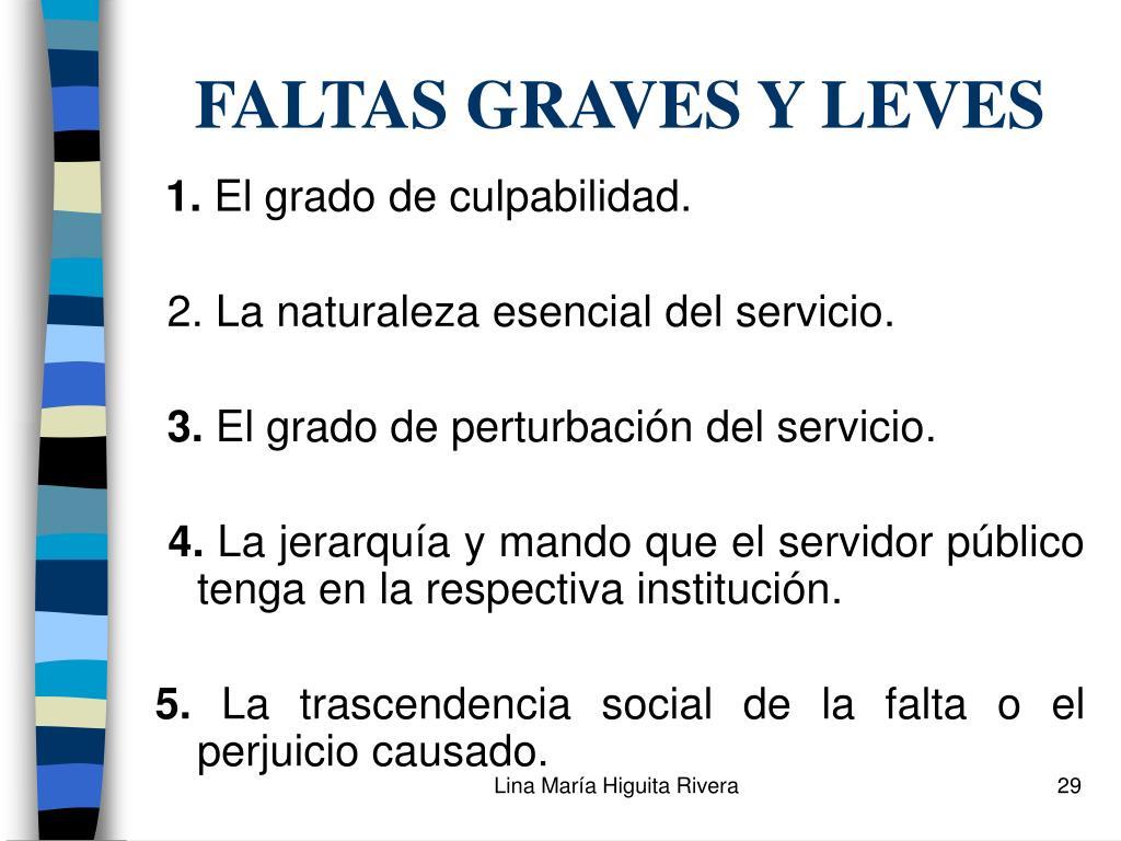 FALTAS GRAVES Y LEVES
