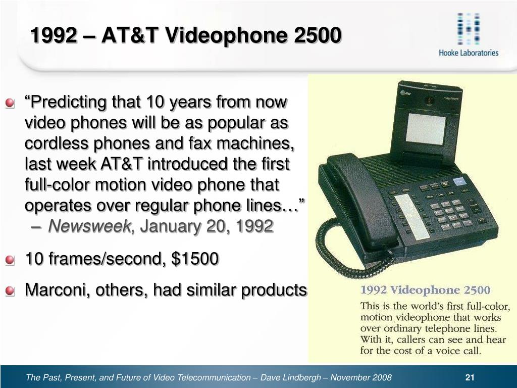 1992 – AT&T Videophone 2500