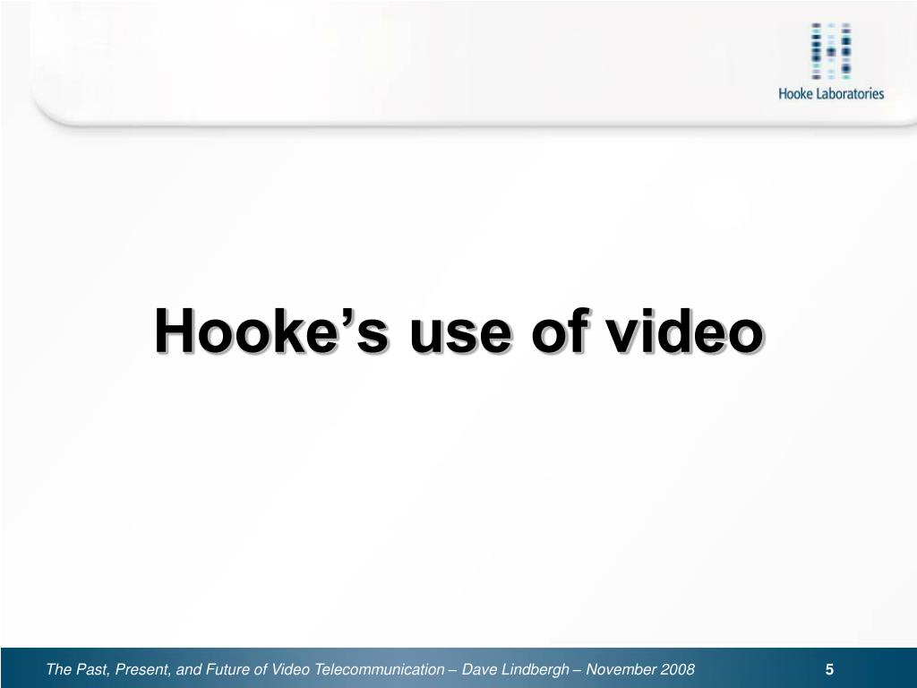Hooke's use of video