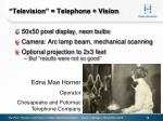television telephone vision
